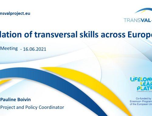 LLLP presented TRANSVAL-EU to the European Qualification Framework Advisory Group (EQF AG)